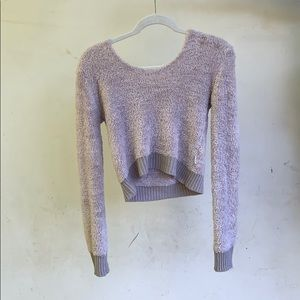 RVAV urban outfitters light pink cozy crop